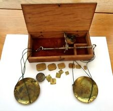 Vintage Hand Held Apothecary Scales & Weights
