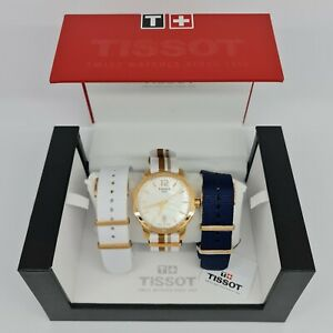 Tissot T0954103711700 Quickster Mother of Pearl Dial Striped Nylon 40mm Watch