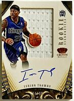 2012-13 Preferred Isaiah Thomas On-Card Auto RC 34/99 Silhouettes Kings Celtics
