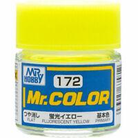 MR HOBBY Color C172 Fluorescent Yellow Paint 10ml Brand New for Model Kit