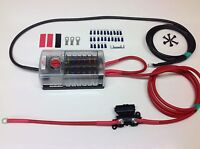 12 Way Blade Fuse box + negative bus bar with 70amp Ready Made Leads (1mtr)
