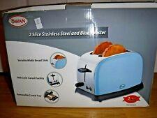 Due fette veloci Toast ampio slot riscaldamento successivo scongelamento High Lift Luce Blu 900W
