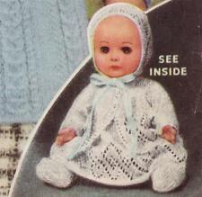 "ROSEBUD baby doll layette 12"" - COPY doll knitting pattern"