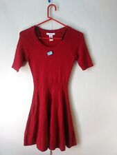 Candies LITTLE RED DRESS Womens XS Short Sleeve A Line Dress Size Extra Small