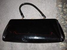 Vintage Black Tempra by Theodor California Hand bag 1950's
