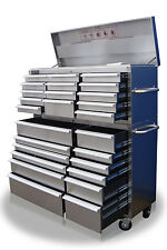 "40 US PRO MASSIVE TOOL CHEST CABINET BOX STAINLESS STEEL 54"" FINANCE AVAILABLE"