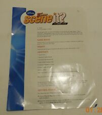Scene it Disney 2nd Edition DVD Board Game Replacement Instructions