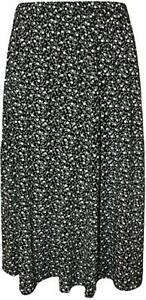 New Stylish Ladies Elasticated Waist Printed Midi Skirt L-73cm Plus Size 12-26
