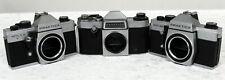 Job lot of 3 Praktica/Practica German 35mm Film Cameras M42 MTL 5B, MTL50, Nova