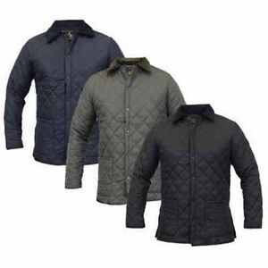 MENS BLACK DIAMOND QUILTED JACKET JAMES DARBY - Coat #649