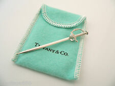 Tiffany & Co Sterling Silver Sword Martini Cocktail Pick Picks Rare w/ Pouch
