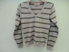 Atmosphere Cotton Blend Grey Stripe Jumper Size 10