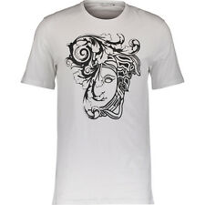 VERSACE COLLECTION Gents White Girocollo Print Branded 100% Cotton T-Shirt BNWT
