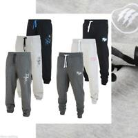 MENS FLY53 CUFFED JOGGERS TRACKSUIT SLIM FIT JOG PANT JOGGING BOTTOMS BLACK GREY
