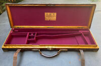 Exceptional Holland & Holland Antique Oak Leather Brass Bound Shotgun Motor Case