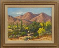 Arizona Saguaros, Southwestern Landscape, Original Oil Painting by Leona Turner