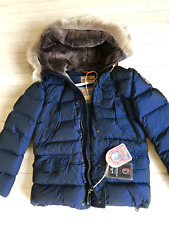 New PJS Parajumpers Deer boys down jacket coat size 12 color marine coyote fur