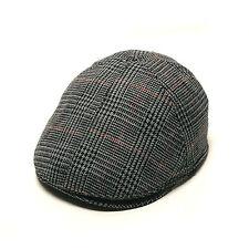 09ea2229052 Unisex Mens Glen Check Plaid Flat Cap Newsboy Cabbie Gatsby Driver Hats Gray