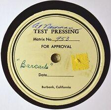 Al Newman Test Press 78 Barcarle Instro Louis Prima Style Calypso King Solomon