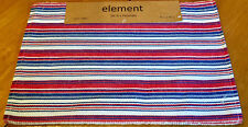 Red White & Blue Patriotic Americana Striped Cotton Ribbed Placemat Set of 4