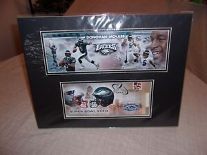 USPS First Day Issue NFL Football Super Bowl 39 Eagles  Donovan McNabb Licensed