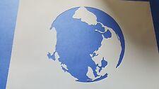 Schablonen 317 Weltkugel Wandtattoo Stencil Leinwand Textilgestaltung Airbrush