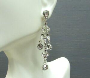 Ballroom Dancing Bridal Jewelry Swarovski Element Crystal Chandelier Earrings