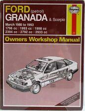 Haynes - Ford Granada & Scorpio (Petrol) Mar 1985 to 1993 Owners Workshop Manual