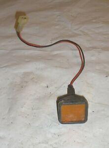 1981 Delorean DMC 12 OEM Right Door Bottom Amber Marker Light