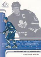 2001-02 SP Game Used Hockey #55 Mats Sundin Toronto Maple Leafs