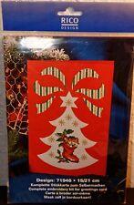 Stickpackung Kreuzstich *RICO DESIGN* Weihnachtskarte *NEU*