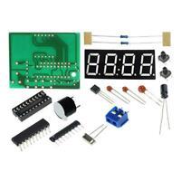 1 set 4 Bits LED Digital Elektronische Uhr C2051 DIY.Kit . Clock Production J4L9