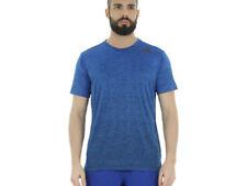 Magliette da uomo blu con Girocollo Casual
