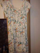 #B16 - Cream Floral Print Sun Dress From F&F - Size 22 - BNWOT