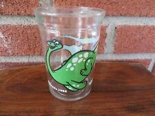 Vintage Brontosaurus Welch's Jelly Jar Glass by Anchor Hocking 4 inch
