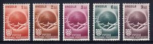 ANGOLA — SCOTT C21-C25 — 1949 PLANES CIRCLING GLOBE SET — MNH — SCV $21