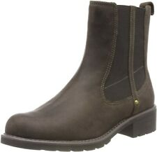 Clarks Orinoco Club Khaki Leather Pull On Chelsea Boots. Size  5.5/39 UK D Fit