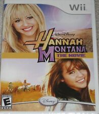 NEW Wii Hannah Montana: The Movie - Miley Cyrus  Factory Sealed Free Shipping !