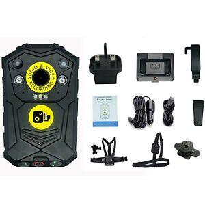 64GB Body Cam Camera & Klickfast Harness Bundle Bailiff Protection Security SIA