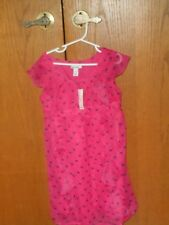 NWT Old Navy Girl's Dress Fuchsia Puppy Pattern Ruffles Flowing Size Small (6-7)