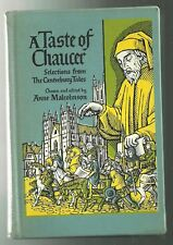 A TASTE OF CHAUCER (Canterbury Tales) - Malcomson (1st)