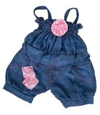 """Teddy Clothes -Pink Glitter Rose, fits 16"""" teddy mountain and Build a Bear"""