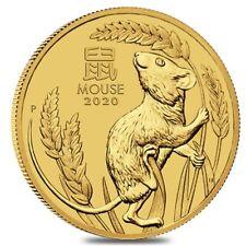 2020 2 oz Gold Lunar Year of The Mouse / Rat BU Australia Perth Mint In Cap