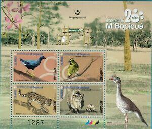 Uruguay 2020 National Park MNH ** Sheetlet  Bird Wild Cat leopard Boar