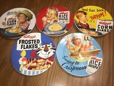 LOT of 5 Vintage 2005 Kellogs Frosted Flakes Corn Flakes Rice Krispies Plates