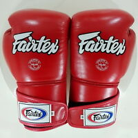 FAIRTEX MUAY THAI BOXING BGV6 GLOVES SPARRING RED COLOR KICK BOXING MMA STYLISH