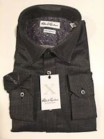 Robert Graham Size 17 43 Sangiorgio Mens Black Color Patterned Dress Shirt NWT