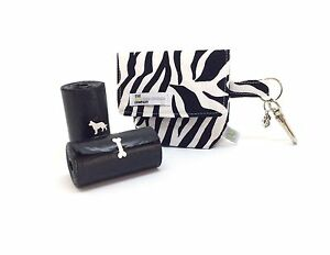 Dog Poo Bag Carrier, Zebra Print, animal safari Print Dog Treat Bag