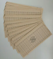 Rare 80s computer punch cards, Unused Hollerith tabulating paper sheets 10 pcs