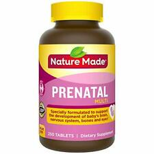 Nature Made Prenatal Vitamin with Folic Acid, Iron, Iodine & Zinc, 250 Tablets